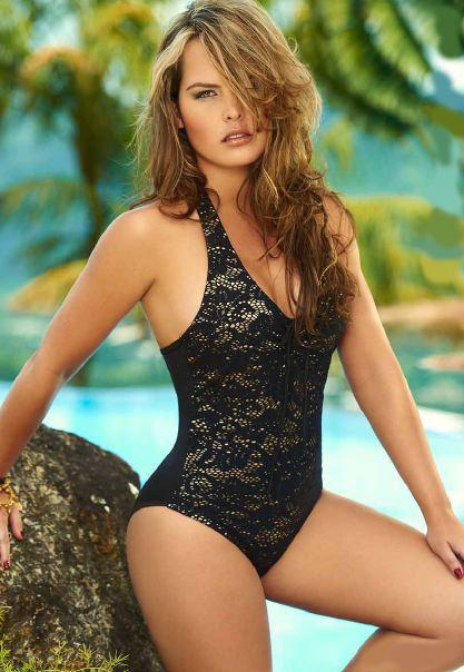 0baf0fe37f7 Imágenes de Black Lace One Piece Swimsuit